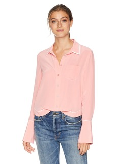 Equipment Women's Sandwashed Crepe De Chine Silk Huntley Blouse pop Pink