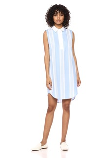 Equipment Women's Sideline Stripe Cotton Poplin Sleeveless Felix Dress