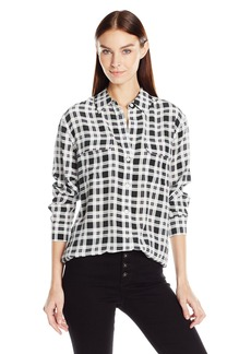 Equipment Women's Signature Engineered Fever Plaid Printed Blouse Nature White/ulti