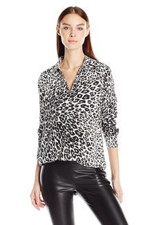 Equipment Women's Slim Signature City Cheetah Printed Blouse  XS