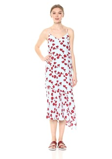 Equipment Women's Tossed Poppies Printed Jada Dress