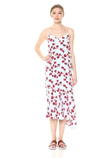 Equipment Women's Tossed Poppies Printed Jada Dress  Extra Small