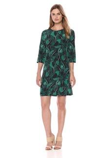 Equipment Women's Tropical Shadows Printed Aubrey Dress  Extra Small