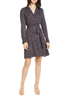 Equipment Yarrow Geo Print Long Sleeve Shirtdress