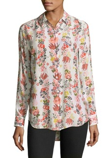 Equipment Essential Floral Silk Blouse