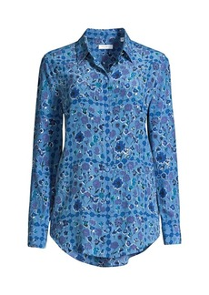 Equipment Essential Floral Silk Button-Front Shirt