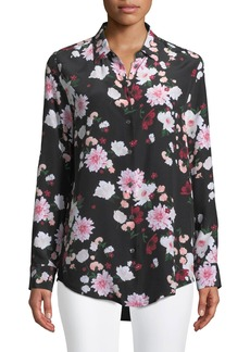 Equipment Essential Garden Party Print Silk Blouse