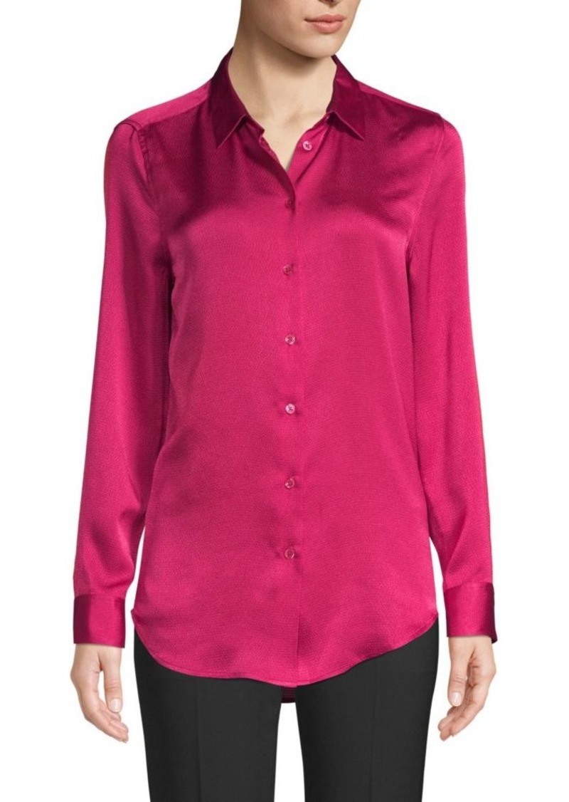Equipment Essential Hammered Satin Blouse