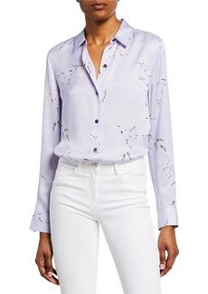 Equipment Essential Printed Button-Down Silk Shirt