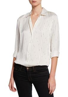 Equipment Essential Striped Button-Down Silk Shirt