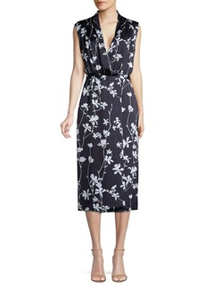 Equipment Femma Sleeveless Floral Sheath Dress