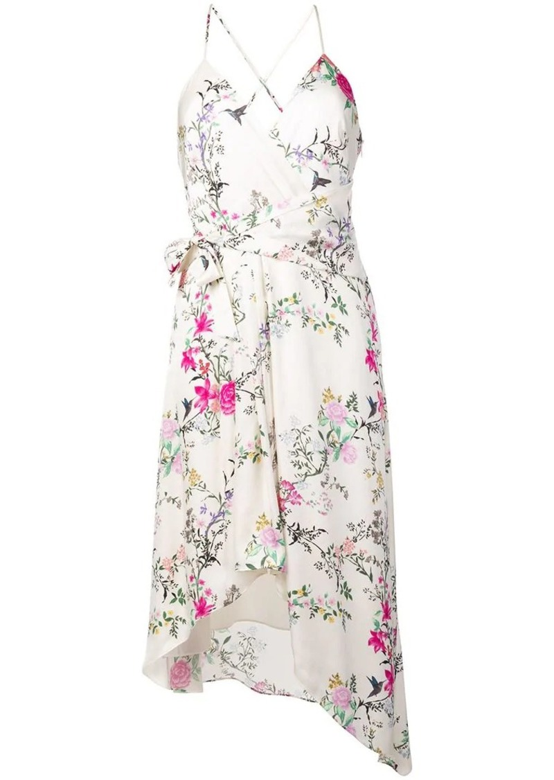 Equipment floral asymmetric dress