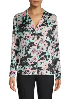 Equipment Floral Long-Sleeve Top