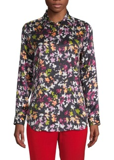 Equipment Floral-Print Silk Button-Down Shirt