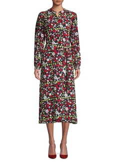 Equipment Floral-Print Silk Shirtdress