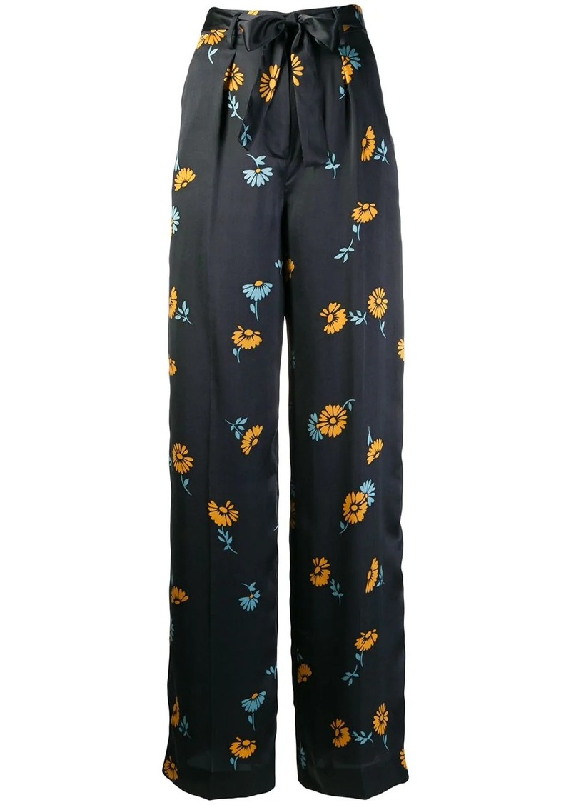 Equipment floral print trousers
