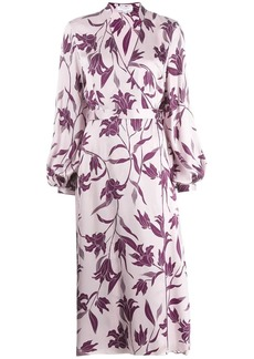 Equipment floral print wrap dress