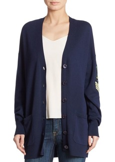 Equipment Gia Patch Cashmere Blend Cardigan