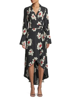Equipment Gowen Floral-Print Silk Wrap Dress