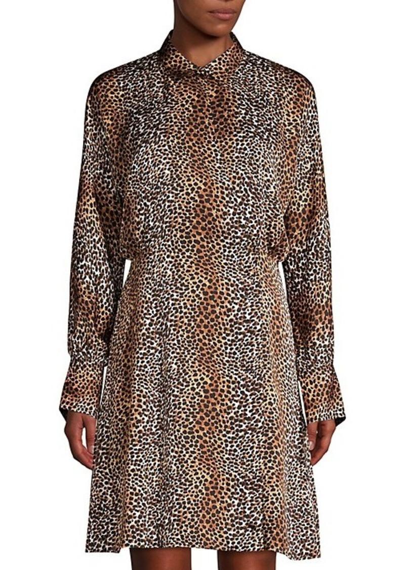Equipment Harmone Leopard Print Shirtdress