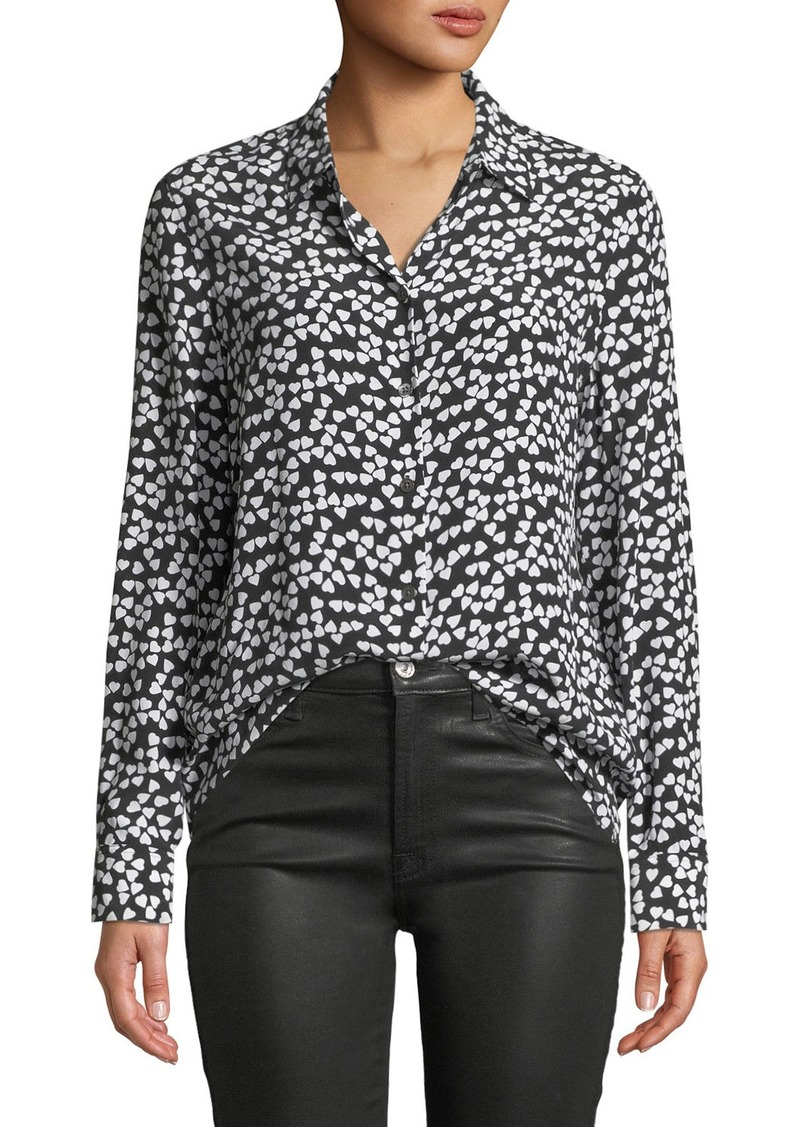 dab1451f28855 Equipment Hearts Silk Printed Button-Front Shirt