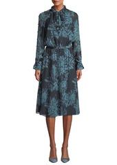 Equipment Henriette Mock-Neck Long-Sleeve A-Line Dress