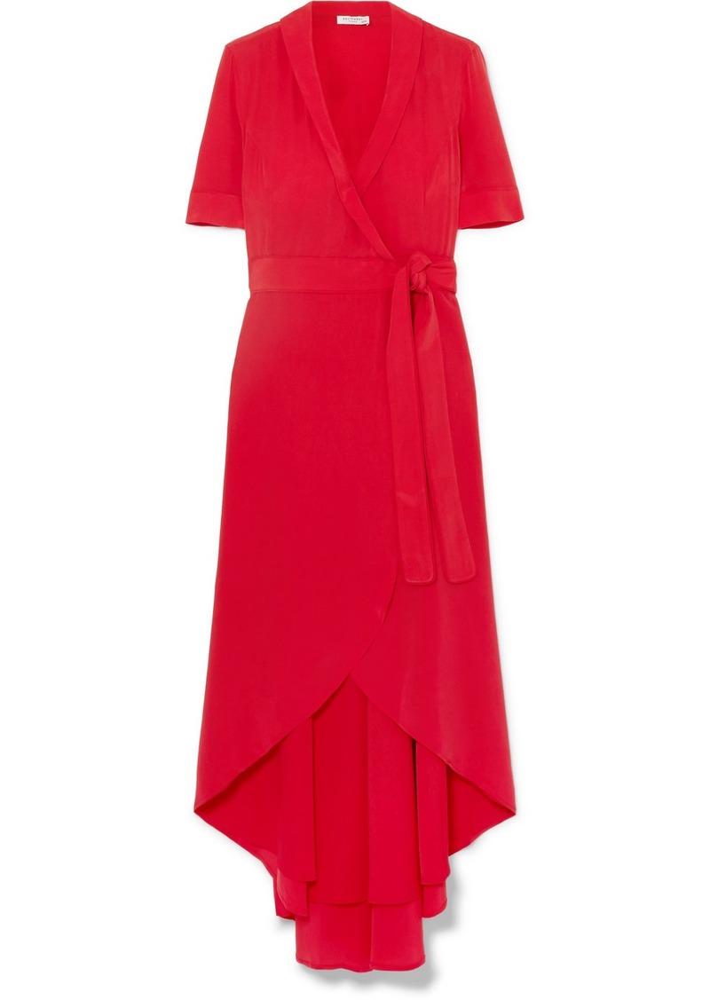 Equipment Imogene Silk Wrap Midi Dress