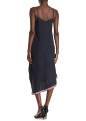 Equipment Jada Silk Blend Stripe Asymmetrical Hem Dress