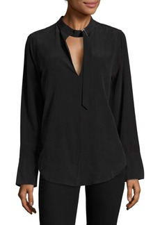 Equipment Janelle Buckle Silk Top