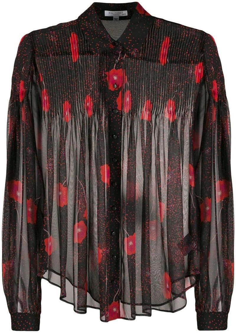Equipment Jaslyn floral-print silk shirt