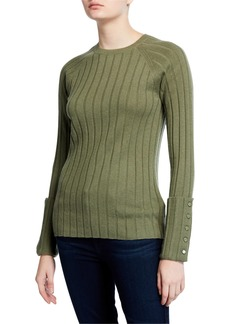 Equipment Joella Rib Crewneck Sweater