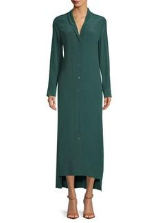 Equipment Johanna Hi-Lo Silk Maxi Dress