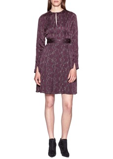 Equipment Jenava Keyhole Long Sleeve Dress