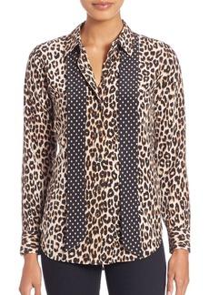 Kate Moss For Equipment Leopard-Print Silk Blouse