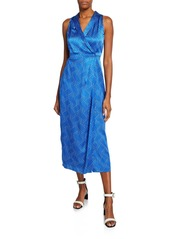 Equipment Katherine Silk Wrap Maxi Dress
