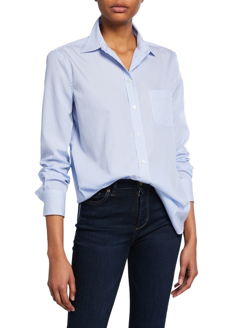 Equipment Kenton Striped Button-Down Cotton Shirt