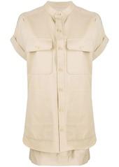 Equipment layered shirt dress