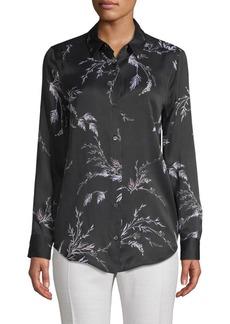 Equipment Leaf-Print Button-Down Shirt