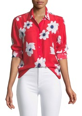 Equipment Leema Antiquity Floral-Print Silk Blouse