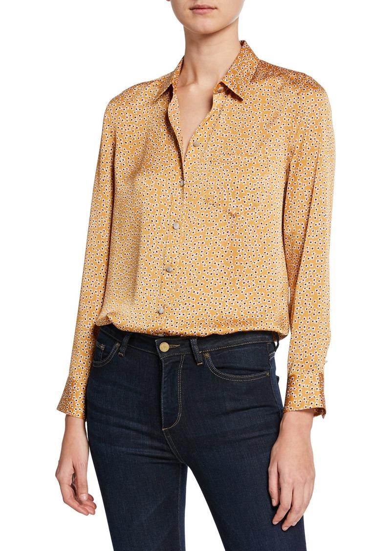 Equipment Leema Floral-Print Button-Down Shirt w/ Pocket