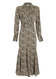 Equipment Lenora Leopard Shirt Dress