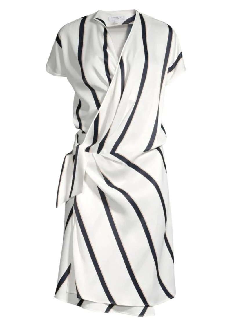 Equipment Leonce Striped Wrap Dress