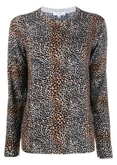 Equipment leopard print knit jumper