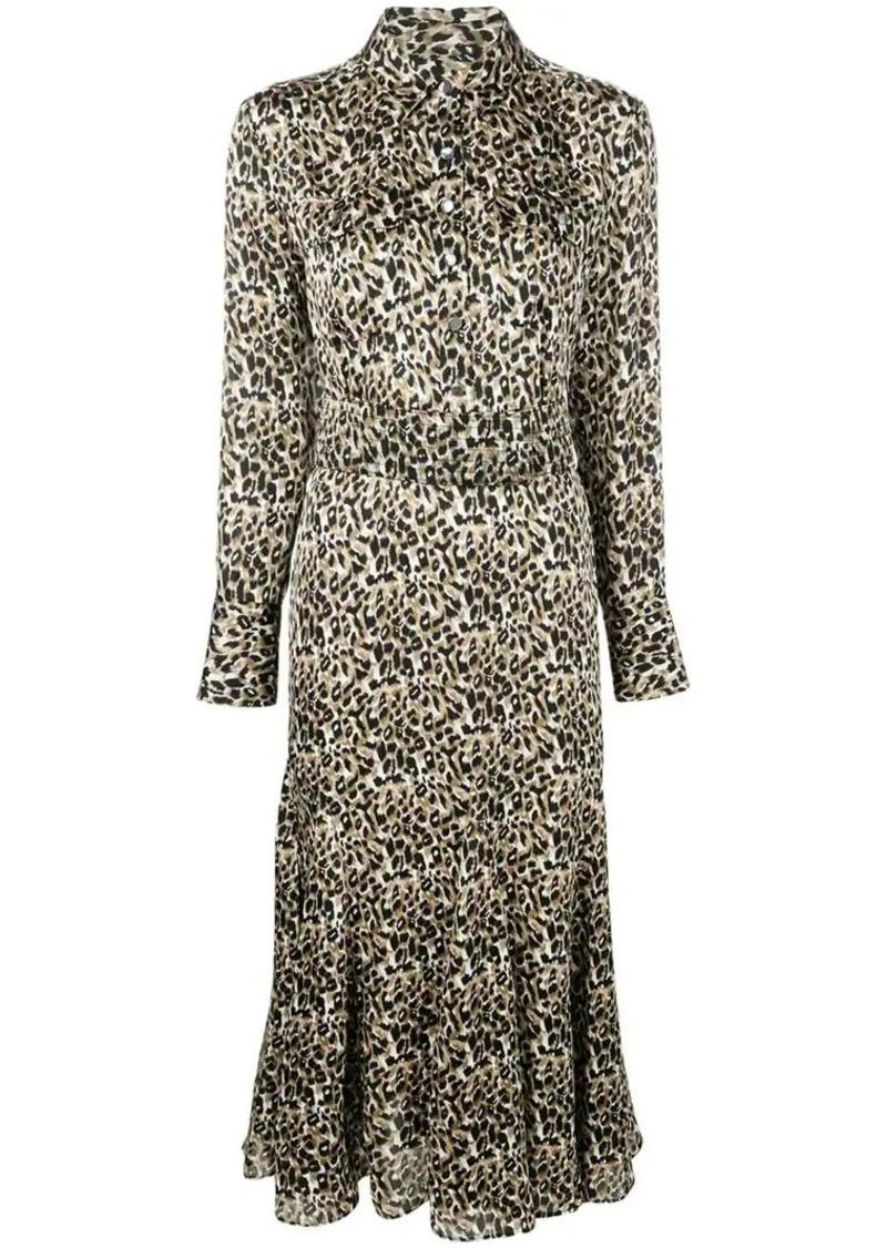 Equipment leopard print shirt dress