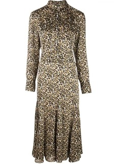 Equipment leopard print shirt dress