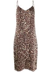 Equipment leopard print slip dress
