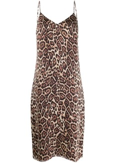 Equipment leopard print slip dress
