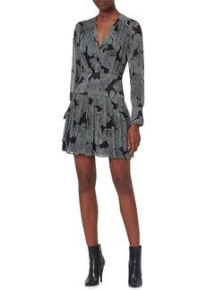 Equipment Lisle Printed Long-Sleeve Mini Dress
