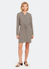 Equipment Lizza Long Sleeve Drawstring Dress