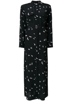 Equipment long bird print dress